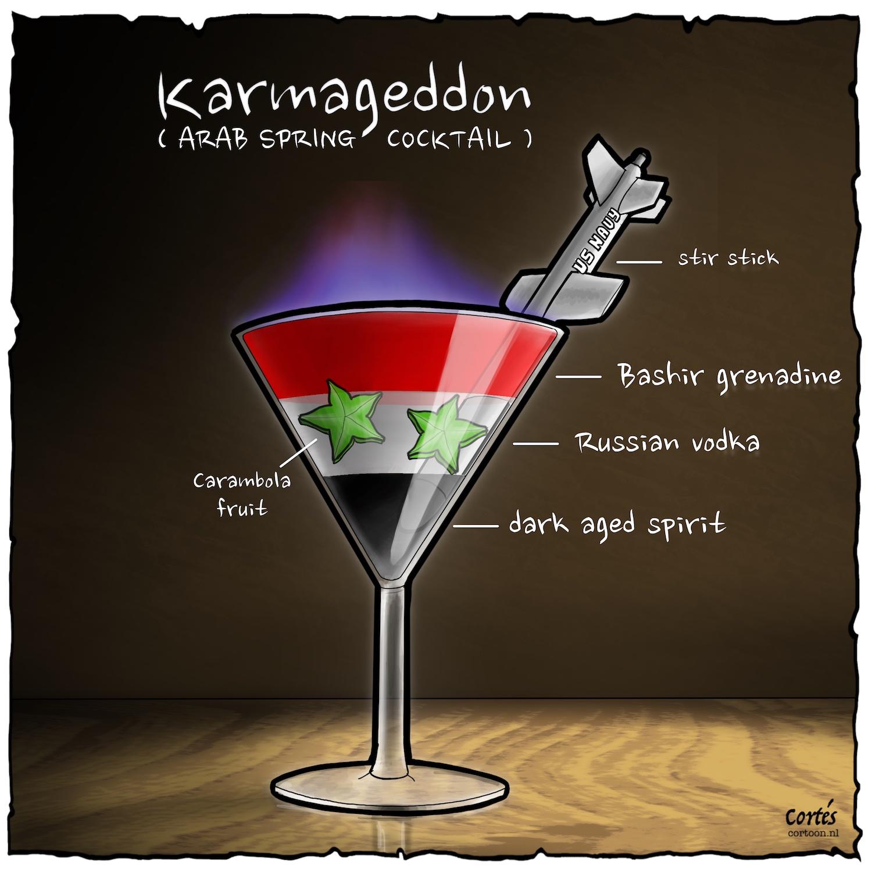arab spring cocktail cortoon nl